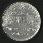 monedas de America - Estados Unidos -  PRESIDENTE  ULYSSES S. GRANT -  CASA BLANCA