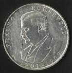 monedas de America - Estados Unidos -  PRESIDENTE  THRODORE ROOSEVELT -  CASA BLANCA