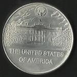 monedas de America - Estados Unidos -  PRESIDENTE  THOMAS JEFFERSON -  CASA BLANCA