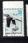 Sellos de Asia - Israel -  Aves: Aguzanieves blanca