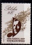 Sellos de Europa - Polonia -  2626 Música. Compositor Karol Szymanowski