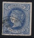 Stamps Spain -  ESPAÑA 63 ISABEL II