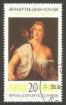 Stamps Bulgaria -  3058 - cuadro de Tiziano, lucrecia y tarquinius