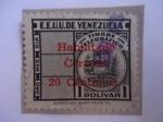 Sellos de America - Venezuela -  E.E.U.U. de Venezuela - Tímbre telegráfico