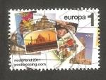 Stamps Netherlands -  2846 - Postcrossing, Palacio de Taj Mahal, Patrimonio de la Humanidad