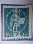 Stamps Sweden -  Erik IX de Suecia - (1120-1160) El Santo de Estocolmo