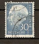 Stamps Germany -  Theodore Heuss./ Grabado / Formato 20x24.