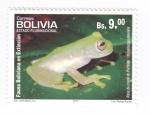 Sellos del Mundo : America : Bolivia : Rana de cristal de Pistipata