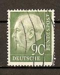 Sellos de Europa - Alemania -  Theodore Heuss./ Grabado / Formato 20x24.