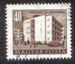 Stamps Hungary -  La capital de un nuevo hospital de la comunidad