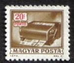 Stamps : Europe : Hungary :  Franqueo adeudado, máquina de cancelación de giros postales
