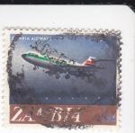 Stamps Zambia -  Líneas Aéreas de Zambia