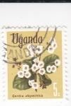 Stamps : Africa : Uganda :  Cordia abyssinica