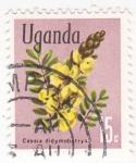 Stamps : Africa : Uganda :  Cassia didymobotrya