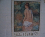 Stamps Europe - Romania -  auguste renoir -nud in pesai