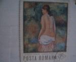 Stamps Romania -  auguste renoir -nud in pesai