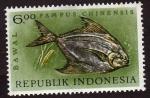 sello : Asia : Indonesia : Pampus chinensis