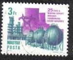 Stamps Hungary -  25 Aniversario de la cooperación técnica y científica húngaro-soviética