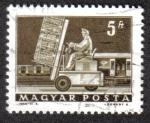 Sellos del Mundo : Europa : Hungría : Ascensor hidráulico camión y coche electrónico