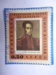 Stamps Venezuela -  Libertador y Padre de la Patria Simón Bolívar-Retrato de Autor Desconocido-1825