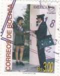 Sellos de America - Bolivia -  UPAEP- cartero