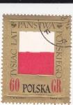 Sellos de Europa - Polonia -  Bandera Polaca (en relieve)