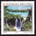 Stamps Croatia -  Croacia - Parque nacional de Plitvice