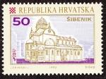 Stamps Croatia -  Croacia - Catedral de Santiago de Sibenik