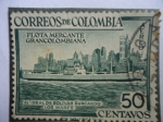 Stamps of the world : Colombia :  Flota Mercante Gran Colombiana (El ideal de Bolívar Surcando los mares)