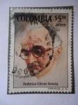 Stamps of the world : Colombia :  Bacteriólogo: Federico Lleras Acosta (1877-1938) - Centenario de su nacimiento, 1877 al 1977.