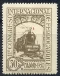 Stamps Spain -  ESPAÑA 476 XI CONGRESO INTERNACIONAL DE FERROCARRILES