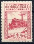 Stamps Spain -  ESPAÑA 480 XI CONGRESO INTERNACIONAL DE FERROCARRILES