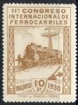 Sellos de Europa - España -  ESPAÑA 481 XI CONGRESO INTERNACIONAL DE FERROCARRILES