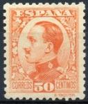 Stamps Spain -  ESPAÑA 498 ALFONSO XIII TIPO VAQUER DE PERFIL