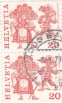 Stamps Switzerland -  Fiestas populares