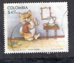 Stamps : America : Colombia :  Las Siete Vidas del Gato
