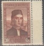 Stamps Spain -  ESPAÑA 553 DESCUBRIMIENTO DE AMERICA. CORREO PARA EUROPA