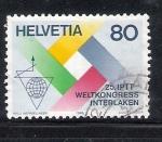 Stamps : Europe : Switzerland :  25 Congreso Mundial Postal y de Telecomunicaciones