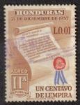 Sellos de America - Honduras -  21 de Diciembre de 1957