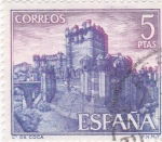 Stamps Spain -  castillo de Coca -Segovia- (5)