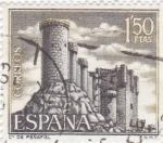 Stamps Spain -  Castillo de Peñafiel -Valladolid-  (5)
