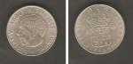 monedas de Europa - Suecia -  Rey Gustaf VI Adolf y Escudo