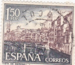 Stamps : Europe : Spain :  Turismo-  Vista de Girona  (5)