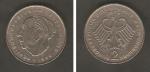 monedas del Mundo : Europa : Alemania :  Theodor Heuss, y águila