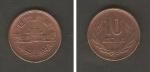 monedas de Asia - Japón -  Salón del Fénix del templo de Byödó y Corona de laurel
