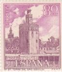 Stamps Spain -  Turismo- Torre del Oro -Sevilla-   (5)
