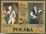 Stamps : Europe : Poland :  2973 - Mariscales Stanislaw Malachowski y Kazimierz Nestor Sapieha