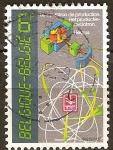 Sellos del Mundo : Europa : Bélgica : Corte seccional del Ciclotrón.