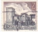Stamps Spain -  Turismo- Castillo de Ampúdia -Palencia-   (5)