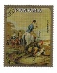 Stamps : America : Panama :  Gobelino siglo XIX
